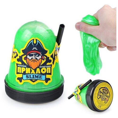Слайм (Игрушка антистресс) Прихлоп перламутровый, (зеленый), 130 гр