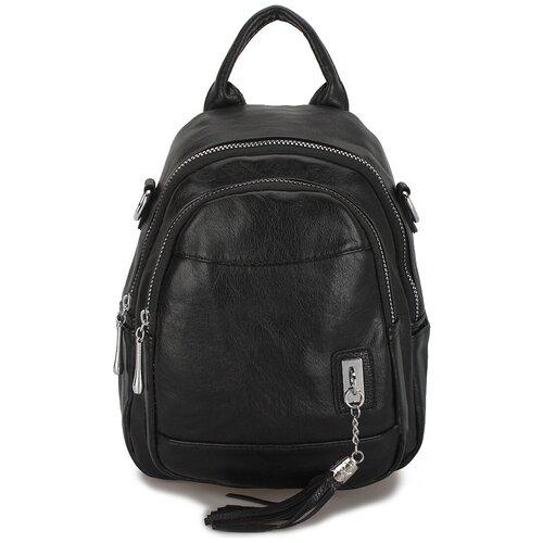 Маленькая женская сумка-рюкзак «Элли Soft» 1256 Black
