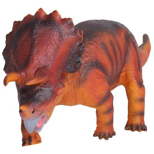 Купить Игрушка для детей Динозавр ТМ КОМПАНИЯ ДРУЗЕЙ , серия Животные планеты Земля , с чипом, звук - рёв животного, игрушечное животное, дикий игрушечный зверь, эластичный пластик, 46.0X16.0X18.0 см, Компания Друзей, Игровые наборы и фигурки