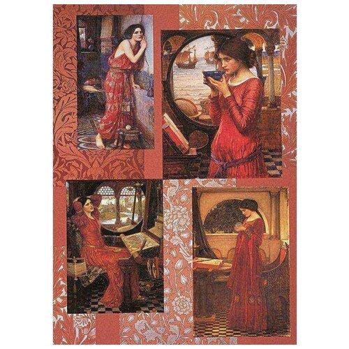 Фото - Бумага для декупажа Finmark Waterhouse-Woman in Red, 210х297 мм ann waterhouse football made simple