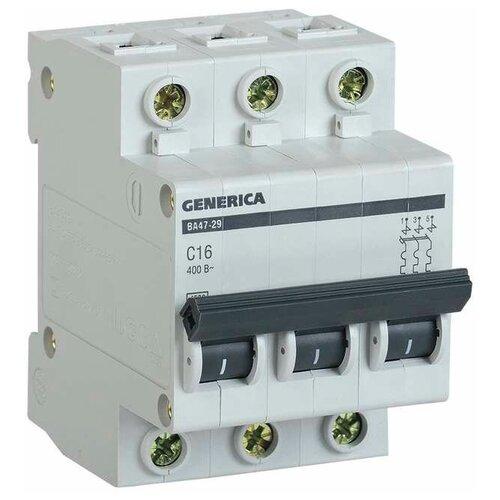Автоматический выключатель IEK ВА 47-29 GENERICA 3P (C) 4,5kA 63 А автоматический выключатель iek ва 47 29 3p c 4 5ka 63 а
