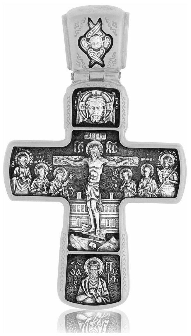 TOP CRYSTAL Крест нательный с Распятием Иисуса Христа и иконой Божией Матери Знамение 11012128 — купить по выгодной цене на Яндекс.Маркете