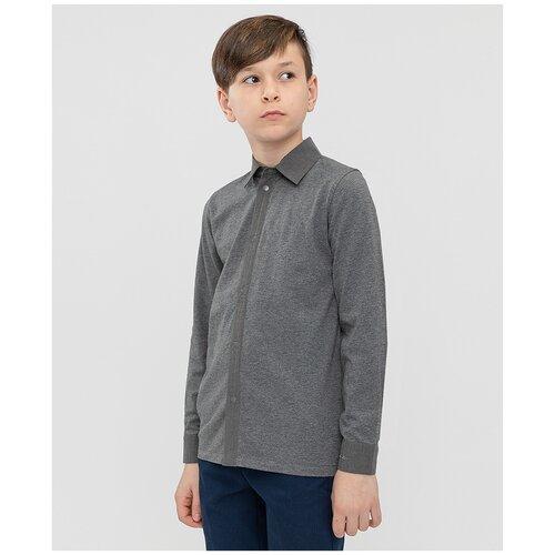 Рубашка Button Blue размер 122, серый