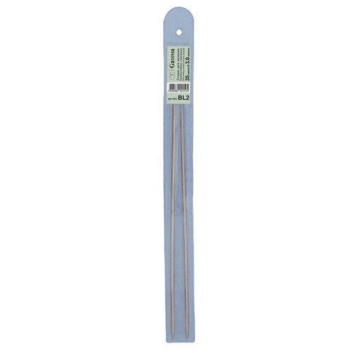 Купить Спицы GAMMA прямые BL2 бамбук d 3.0 мм 35 см - 36 см .