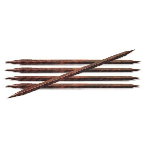 Купить Спицы Knit Pro Cubics 25115, диаметр 5.5 мм, длина 20 см, коричневый