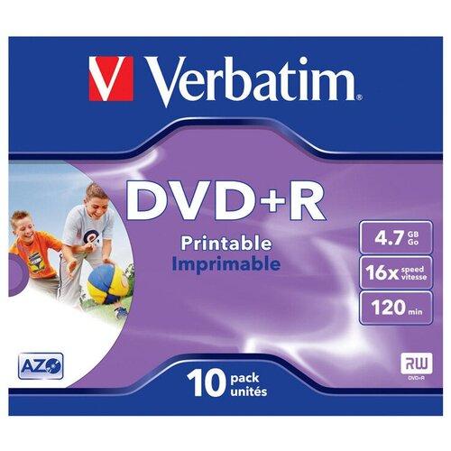 Диск Verbatim DVD+R 4.7 Гб 16х Photo Printable