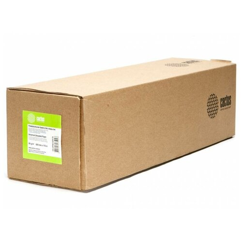 Фото - Бумага Cactus CS-LFP80-620175 A1+ 620мм-175м/80г/м2/белый CIE171% инженерная бумага втулка:76.2мм (3) бумага инженерная cactus cs lfp80 914457 36914ммх45 7м 80г м2 без покрытия втулка 50 8мм