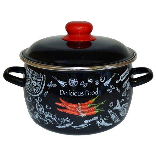 Кастрюля Appetite Chilli, 4 л, черный/красный кастрюля renard classic clc40c 4 л черный