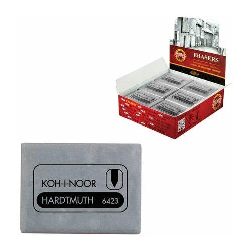 Фото - Ластик-клячка KOH-I-NOOR, 47x36x10 мм, серый, прямоугольный, супермягкий, натуральный каучук, 6423018004KD, 4 шт. ластик прямоугольный синтетич каучук белый 39х19х10 мм index пакет