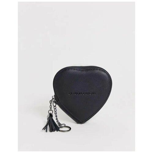 Женский Черный кошелек для монет в форме сердца Claudia Canova фото