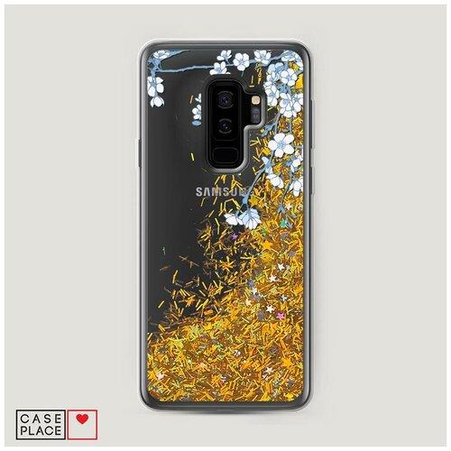 Фото - Чехол Жидкий с блестками Samsung Galaxy S9 Plus Цветочная фантазия 3 чехол жидкий с блестками samsung galaxy s20 plus цветочная фантазия 1