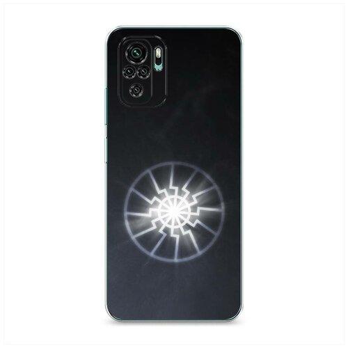 Чехол Силиконовый Xiaomi Redmi Note 10S Черное солнце