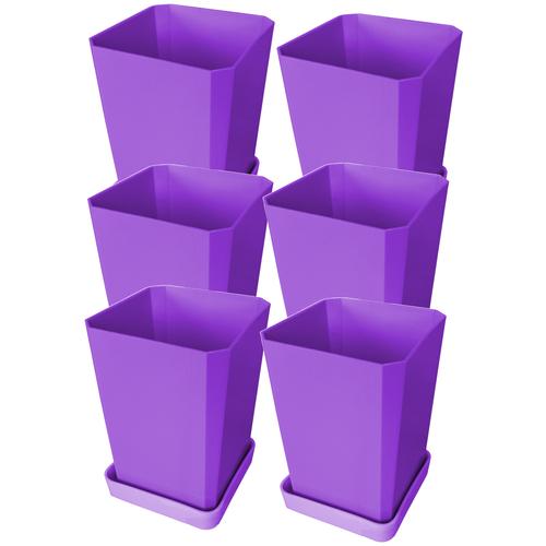 Набор горшков для рассады Пеликан 6 шт, 750 мл Фиолетовый