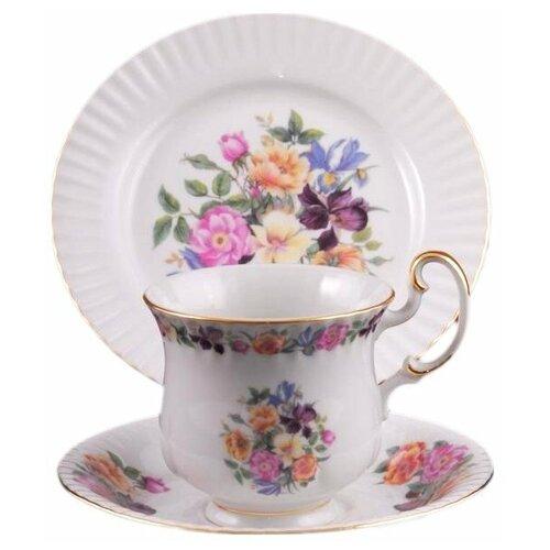 Фото - Чайный набор для завтрака на 1 персону 3 предмета Leander Моника /Полевые цветы / 158152 набор чайный гималайские цветы 3 предмета churchill himf00081