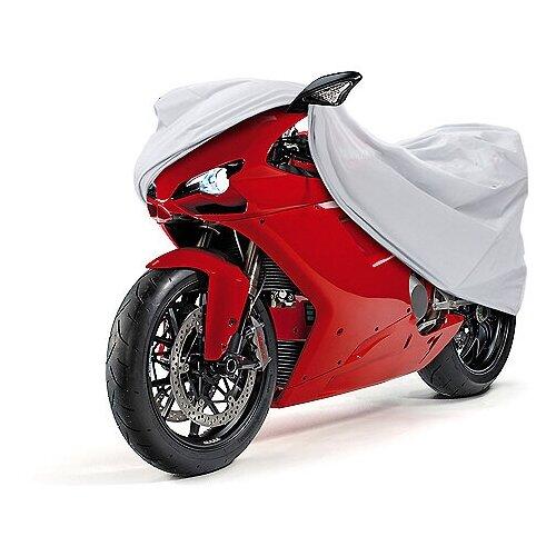 "Чехол-тент для мотоциклов AutoStandart ""Sportbike"", размер 216х80х130см, цвет: серебристый"