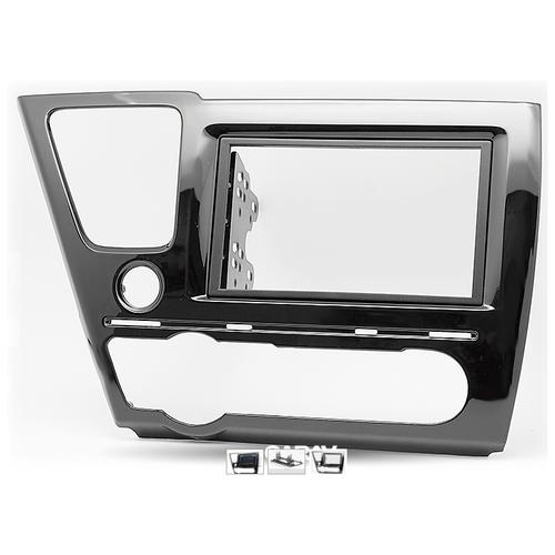 Переходная рамка для установки автомагнитолы CARAV 11-467: 2 DIN / 173 x 98 mm / 178 x 102 mm / HONDA Civic 2013-2017