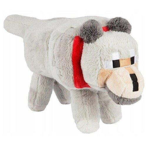 Детская мягкая игрушка ВсеИгрушки / Плюшевый большой Волк Wolf из игры Майнкрафт (Minecraft) для детей, мальчиков и девочек