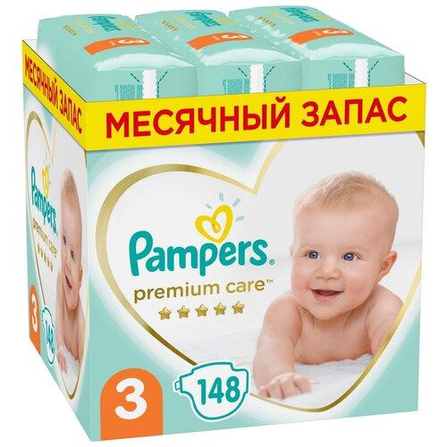 Подгузники Pampers Premium Care, размер 3, 6-10 кг, 148 штук