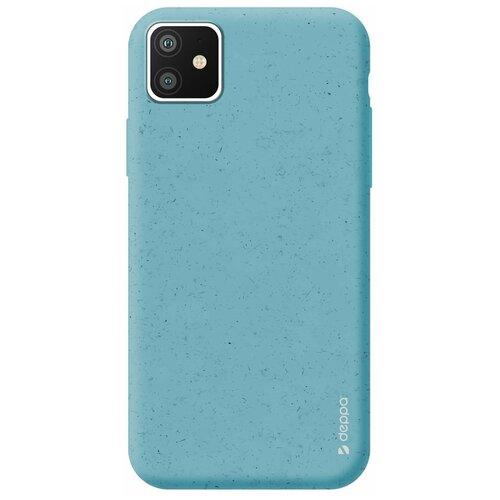Фото - Чехол Deppa Eco Case для Apple iPhone 11, голубой чехол клип кейс deppa eco case для apple iphone 11 голубой [87282]