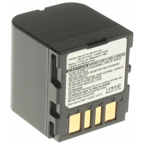 Аккумуляторная батарея iBatt 1500mAh для JVC GR-D640E, GZ-MG40-A, для Jvc GR-DF570, для JVC GR-D350U, GR-D640, GZ-MG24E