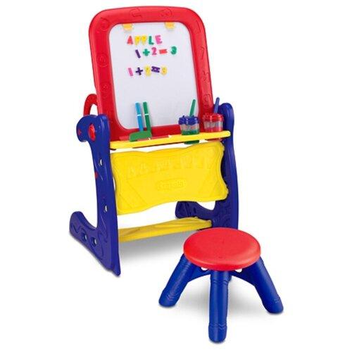 Парта-мольберт Crayola со стульчиком (5029) синий/красный/желтый