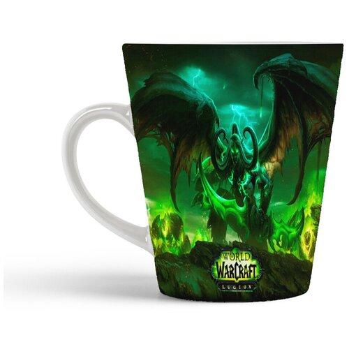 Кружка-латте CoolPodarok World of Warcraft Ворлд оф Варкрафт (легион)