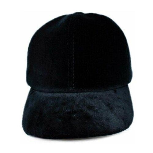 Кепка бейсболка бархатная Grin, черная, женская S