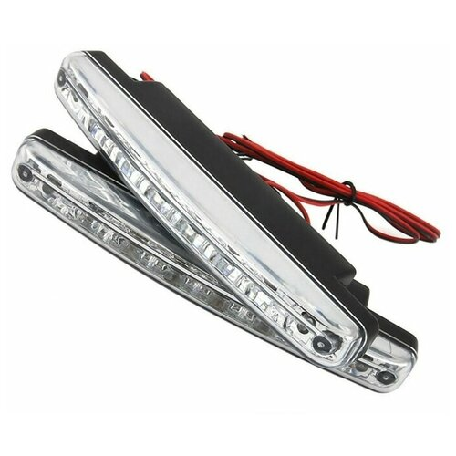 Фара автомобильная ДХО (DRL) AVS DL-8S (2,4W, 8 светодиодов х 2 шт.)