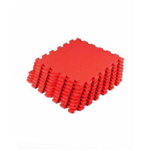 Мягкий пол универсальный Красный с кромками 30*30(см),9 деталей мягкий пол eco cover универсальный 30х30 см сад огород 9 деталей