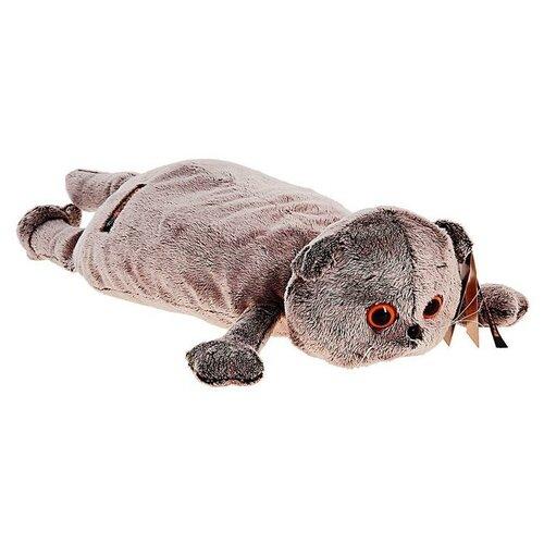 Мягкая игрушка-подушка «Кот», цвет серый, 40 см