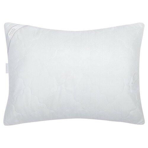 VESTA Подушка стёганная 50х70 см, иск. лебяжий пух, ткань глосс-сатин, п/э 100%