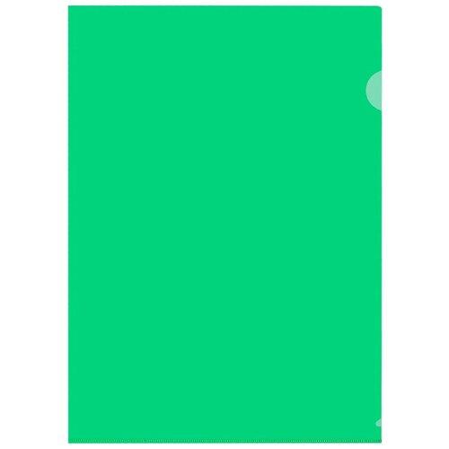 Купить Папка уголок, 150 мкм, зеленый 10 шт/уп Россия, 4 уп, Attache, Файлы и папки