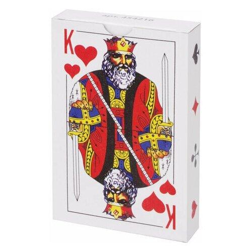 Карты игральные, 54 карты, с пластиковым покрытием, 454216 недорого