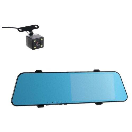 Видеорегистратор автомобильный две камеры, разрешение HD 1080P, IPS 7.0, угол обзора 140° 433106