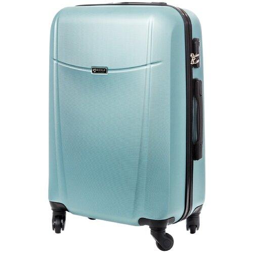 чемодан bonle премиум abs пластик салатовый размер s 55 см 37 л Чемодан Bonle, премиум ABS-пластик, Нефритовый, размер M, 65 см, 62 л