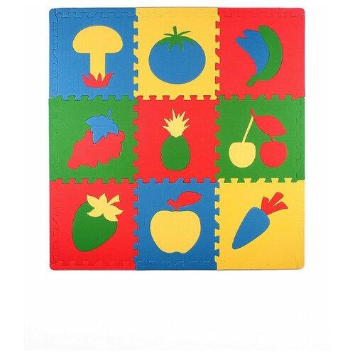 Развивающий коврик пазл Сад - Огород 30*30 см 9 деталей мягкий пол eco cover универсальный 30х30 см сад огород 9 деталей