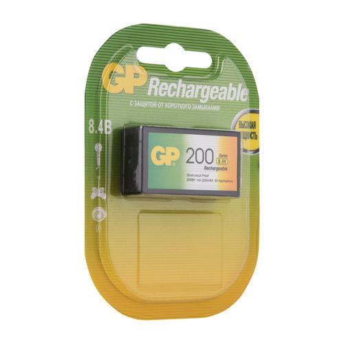 Фото - Аккумулятор GP 6F22, 8.4 В, 200 мАч, NiMH BL1 аккумуляторы gp 1000 мач в комплекте с зарядным устройством адаптером 1а и кабелем