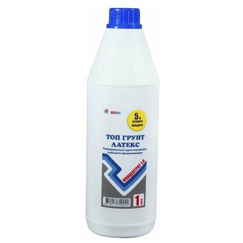 Грунтовка акриловая / Топ грунт латекс ALFABET 1л концентрат недорого