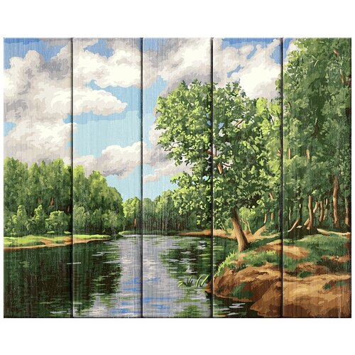 Купить Картина по номерам Фрея 40*50 см, Летние облака, Жанна Когай , по дереву (PKW-1 51), ФРЕЯ, Картины по номерам и контурам