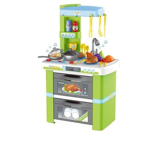 Набор Кухня со звуком посудой и продуктами 69.5см, 37 предметов большой набор кухня с посудой и продуктами 55 предметов со светом звуком и водой 82см