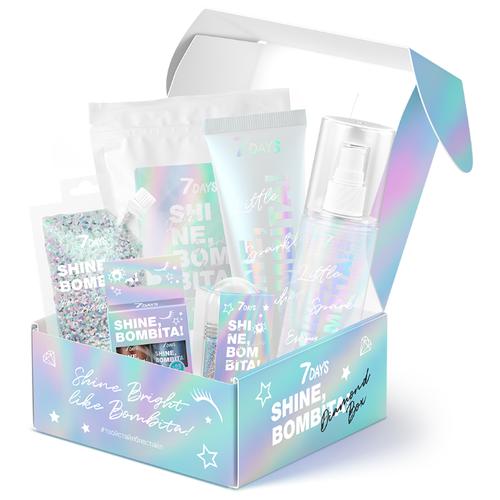 Купить 7DAYS Подарочный набор для голографического мейка и ухода SHINE, BOMBITA! DIAMOND BOX № 501, 6 средств