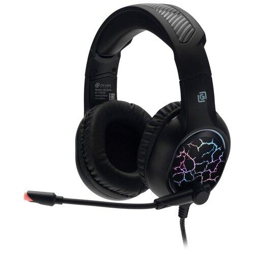 Компьютерная гарнитура OKLICK HS-L930G SNORTER черный игровая гарнитура oklick hs l930g snorter черный синий hs l930g