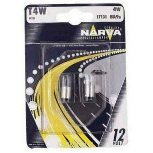 Лампы автомобильные NARVA T4W 12V NVA блистер