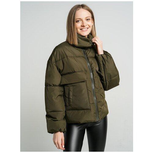 Куртка на синтепоне ТВОЕ A6563 размер L, хаки, WOMEN