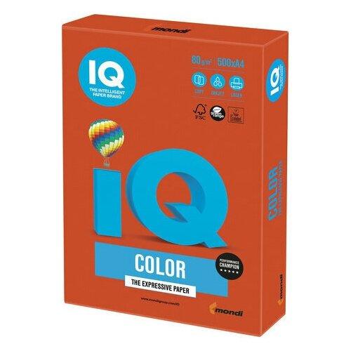 Фото - Бумага цветная IQ color, А4, 80 г/м2, 500 л., интенсив, красный кирпич, ZR09 бумага цветная iq color а4 160 г м2 100 л 5 цветов x 20 листов микс интенсив rb02