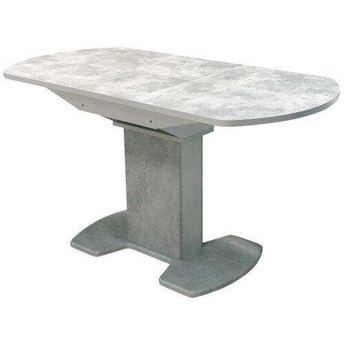 EVITA Стол обеденный раздвижной Каприз серый, пластик,110х70х76 см/Стол для кухни/Стол для столовой