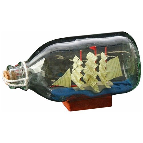 Корабль в бутылке, треугольные паруса, микс, 14*6*8см 924167 по цене 313
