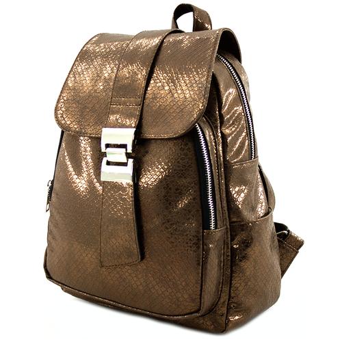 Рюкзак женский BITEX 28-60/1 бронза экокожа / змея