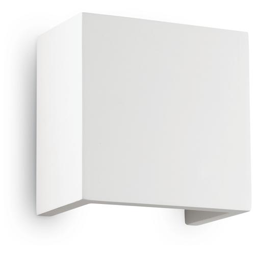 Светильник настенный Ideal lux Flash Gesso AP1 H12,5 макс.40Вт G9 IP20 230В Белый Гипс/Металл 214672 настенный светильник ideal lux flash ap1 bianco