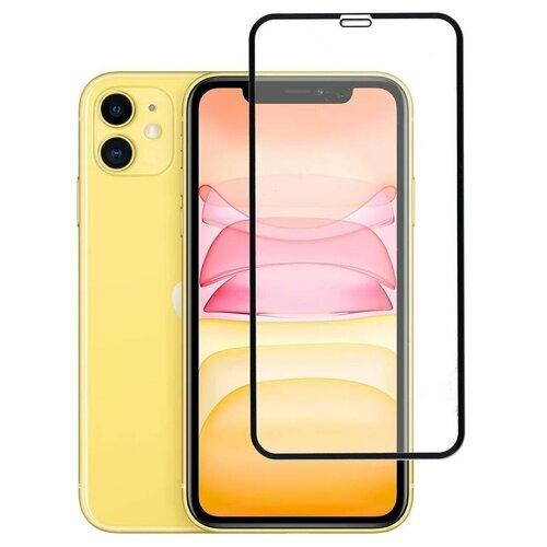 Полноэкранное защитное стекло для Apple iPhone XR (iPhone 10 R) и iPhone 11 / Закаленное стекло на Эпл Айфон 11 и Айфон Икс Р (Айфон 10 Р) / Ударопрочное стекло на весь экран с олеофобным покрытием / Full Glue от 3D до 21D (черный)